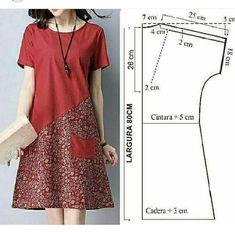 Easy Sewing Patterns, Coat Patterns, Clothing Patterns, Dress Patterns, Sewing Blouses, Batik Fashion, Tent Dress, Clothing Hacks, Pattern Fashion