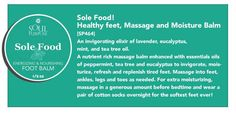sole food Foot cream