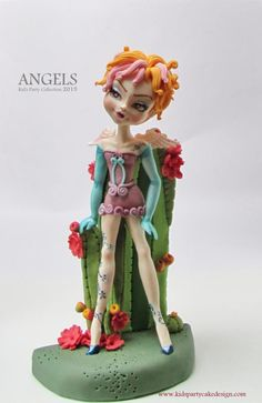 Blooming Jan - Cake by maria teresa Beautiful Cake Designs, Beautiful Cakes, Amazing Cakes, Cake Models, Making Fondant, Cold Porcelain, Porcelain Clay, Modeling Chocolate, Polymer Clay Dolls