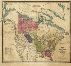 North America Old Map Tanner Digital Image Scan Download - 1836 us map