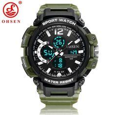 b7bcb659397 OHSEN Watch Military Men Sport Watch Digital Wristwatch Auto Date Alarm  Multifunction Electronic Rubber Band Clock