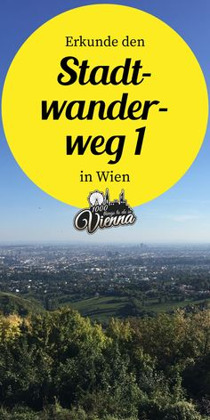 Wandere durch die Wiener Weingärten rauf auf den Kahlenberg mit Abstecher zur Stefaniwarte. Bei diesem Stadtwanderweg hast du außerdem eine wunderbare Aussicht über Wien. Vienna, Austria, Wanderlust, Hiking, Places, Nature, Movie Posters, Travel, Outdoor