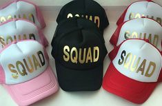 6856adcb45bec Bride Squad Bridesmaid Hen Party Half Mesh Baseball Trucker Rapper Cap Hat