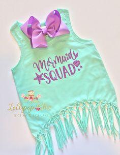 Mermaid Squad Tank Top purple, mermaid hair, mermaid party, mermaid birthday girl