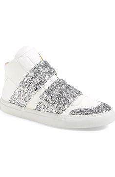 MM6 Maison Margiela Glitter High Top Sneaker