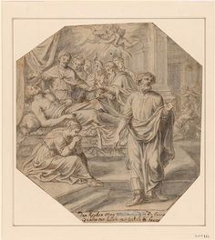 Abraham van Diepenbeeck | Death of Lazarus No. 2 | Drawings Online | The Morgan Library & Museum