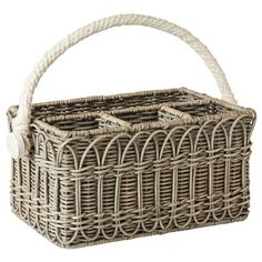Our new Waveny wicker utensil caddy is perfect for the gal that loves to entertain! ($128)