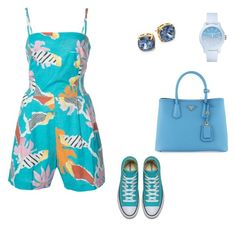 """""""#1083"""" by apvick ❤ liked on Polyvore featuring Isolda, Prada, Tory Burch and Lacoste"""