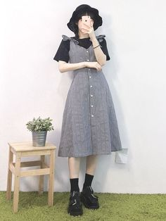 in 2020 Korean Street Fashion, Korea Fashion, Muslim Fashion, Asian Fashion, Modest Fashion, Look Fashion, Hijab Fashion, Girl Fashion, Fashion Dresses