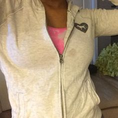 Pink Hoodie Light PINK hoodie. Has small stain on the front . Worn a couple times PINK Victoria's Secret Jackets & Coats