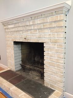 how to get a whitewashed look for your fireplace in 10 easy steps (also SUPER affordable)