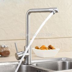 83.86$  Watch now - http://ali05t.worldwells.pw/go.php?t=32231177335 - SUS304 Stainless Steel Lead-free Kitchen sink Faucet Mixer Drinking Water Filter Tap with Filtered purified Water Spout