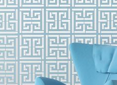 Wall Stencil Greek Key new Modern look Geometric Pattern Wall Room Decor Made by OMG Stencils Home Improvements Color Paintings 0058. $39.00, via Etsy.