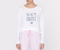 Moon top with text detail - OYSHO