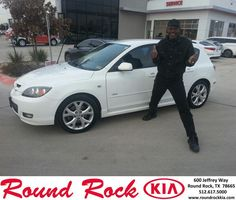 https://flic.kr/p/CUjLko | Happy Anniversary to Danny C on your #Mazda #Mazda3 from Fidel Martinez at Round Rock Kia! | deliverymaxx.com/DealerReviews.aspx?DealerCode=K449