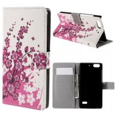 Huawei Honor 4C vaaleanpunaiset kukat puhelinlompakko. #phonewallet #puhelinlompakko #kukka #lower