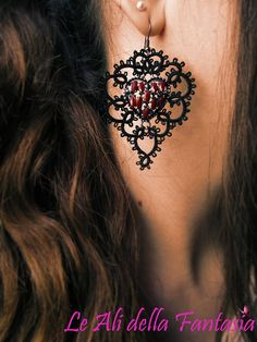 Tatting handmade earrings