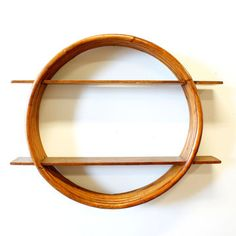 Mid-Century Rattan Wall Shelf now featured on Fab.