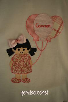 camiseta decorada niña patchwork