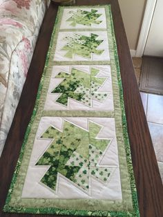 Lil Twister table runner for St. Patrick's Day