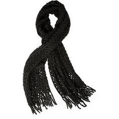 Steve Madden N-Cuddle Scarf ($9.99) ❤ liked on Polyvore featuring accessories, scarves, black, thick knit scarves, steve madden scarves, zig zag scarves, chunky knit scarves and steve madden