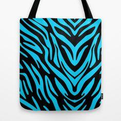 Blue Zebra Tote Bag