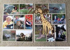 Zoo Scrapbook Layout Idea