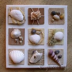 Now, I can do something with my shell collection. I would definitely want to paint the canvas, though. Then frame it.