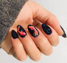 Stunning nail art ideas -- from easy DIY to crazy design ideas -- one week at a . - Stunning nail art ideas — from easy DIY to crazy design ideas — one week at a time - Matte Nails, Black Nails, Stiletto Nails, Matte Black, Oval Nails, Black Glitter, Glitter Nails, Round Nails, Black Art