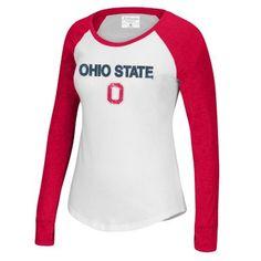Women's Ohio State Buckeyes Fastball Baseball Tee $27.20