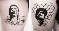 La marque Ball & Chain s'est associée avec Johnny Gloom une, tatoueuse au…
