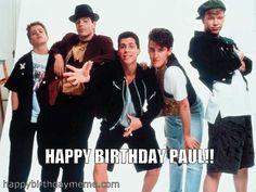 new kids on the block Happy Birthday Paul, Boy Birthday, Danny Wood, Joey Mcintyre, Donnie Wahlberg, Jordan Knight, Block Party, New Kids, Boy Bands