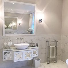 The bedroom had a matching ensuite with beautiful #bespoke basin units which we designed and made to match the bespoke sideboard in the main #bedroom ... #design #decor #interiordesign #inspire_me_home_decor #shabbyyhomes #shabbyystore #lovelyinterior #kavainteriors #interior9508 #kava_interior #interior123 #interior125 #dream_interiors #home_and_decor1 #myinterior #loveluxuryinteriors #interior9508 #IDCDesigners #101_ideesdeco #bedbathbeyond #passion_4_home_decor