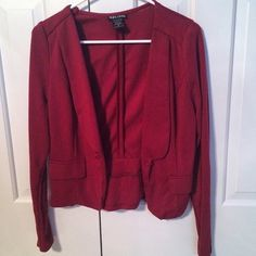 Maroon Blazer Has a super cute bow on the back, I wore it once- I feel like it looks funny on me Wet Seal Jackets & Coats Blazers