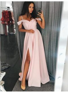 Spaghetti Straps Affordable Prom Dresses Long Evening Dresses for Wome – Hoprom Prom Dresses Long Pink, Long Bridesmaid Dresses, Prom Party Dresses, Dresses For Teens, Trendy Dresses, Cheap Dresses, Occasion Dresses, Homecoming Dresses, Sexy Dresses