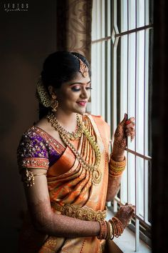 Shopzters is a South Indian wedding site Indian Bridal Outfits, Indian Wedding Jewelry, South Indian Weddings, South Indian Bride, Mens Gold Jewelry, Gold Jewellery, Bridal Jewellery, Wedding Sari, Wedding Pics