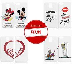 """Speciaal voor Valentijnsdag nu de koppelhoesjes en BFF hoesjes met 10% extra korting, dus 2 hoesjes voor slechts €17,99. Gebruik de kortingscode """"valentijn"""" www.ontwerp-zelf.nl"""