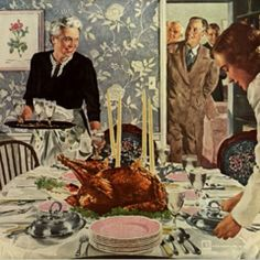 norman rockwell thanksgiving | Norman Rockwell portrait of Thanksgiving