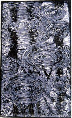 Spring Rain / Linoleum Print / Andrew Jagniecki
