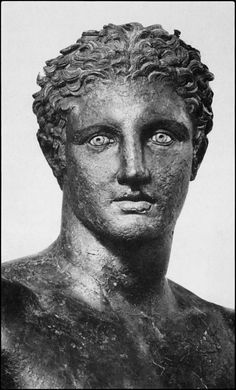 The Antikythera Ephebe is a bronze statue of a young man of languorous grace that was found  in an ancient shipwreck off the island of Antikythera, Greece,  dated by its style to about 340 BC,