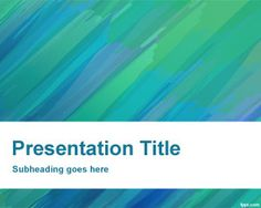 Painted Background PowerPoint - Perfect for presentations about art, art gallery showcase, or if you want to make your plain ppt presentation great.
