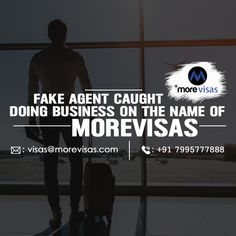 We are hereby providing information about fraudulent activities and unethical behavior by MoreVisa, that has a similar name like us, but we are officially named as MoreVisas Immigration Services Private Ltd.   #Morevisas #Immigration #Visas