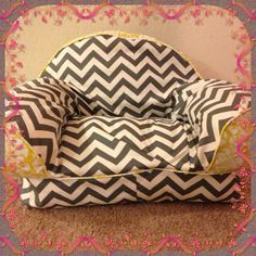 Easy chair for Cupcake. Made with McCall's pattern #9665.