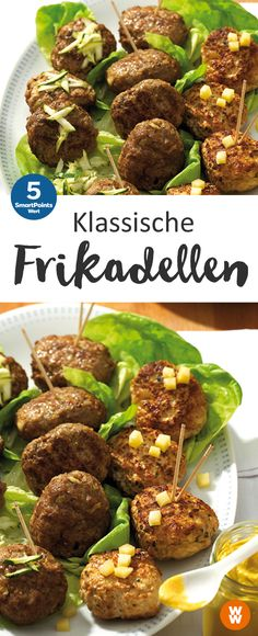 Klassische Frikadellen | 4 Portionen, 5 SmartPoints/Portion, Weight Watchers, fertig in 35 min.