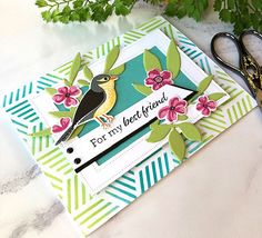 Cullen-ary Creations Birds And The Bees, Bird Cards, My Best Friend, Stamping, Ink, Gallery, Paper, Roof Rack, Dear Best Friend