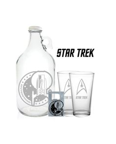 Hey, I found this really awesome Etsy listing at https://www.etsy.com/listing/179284322/star-trek-growler-64oz-beer-growler-with