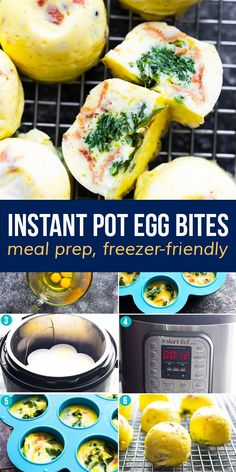 Instant Pot egg bites are soft, creamy, and easy to customize with your favorite add ins! Perfect for breakfast or meal prep, they are low carb and freezer-friendly. #sweetpeasandsaffron #eggbites #instantpot #mealprep #lowcarb #freezerfriendly #customizable Healthy Egg Breakfast, Best Breakfast Recipes, Breakfast Ideas, Healthy Chips, Healthy Snacks, Healthy Recipes, Freezer Recipes, Snack Recipes, Saffron Recipes