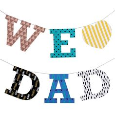 Banners: Father's Day,Home and Living,Paper Craft,Father's Day,Paper Craft,decoration,garland,Geometry ,party