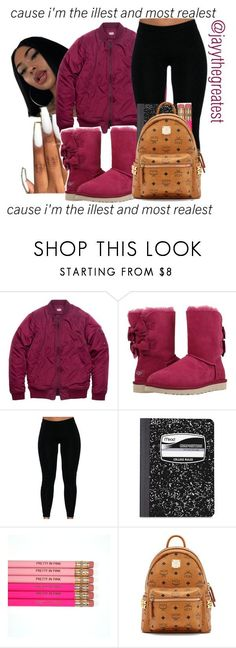 """Back to School Outfit #1"" by jayythegreatest ❤ liked on Polyvore featuring UGG, Mead and MCM"