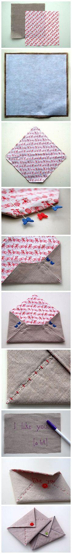 Como fazer envelopes de tecido.